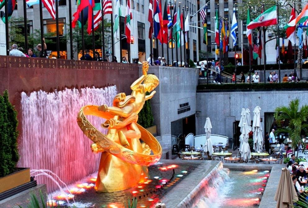 Atrações no Rockefeller Center em Nova York