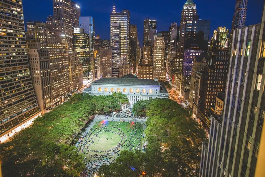 Parque Bryant Park em Nova York