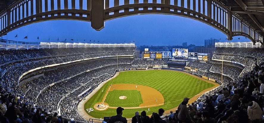 Estádio dos Yankees em Nova York: Jogo de beisebol