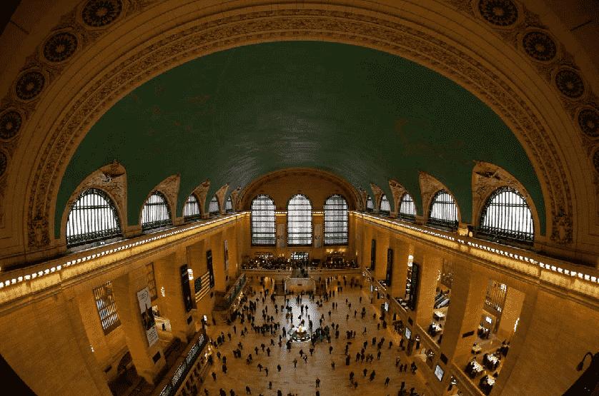 A famosa estação de trem Grand Central em Nova York