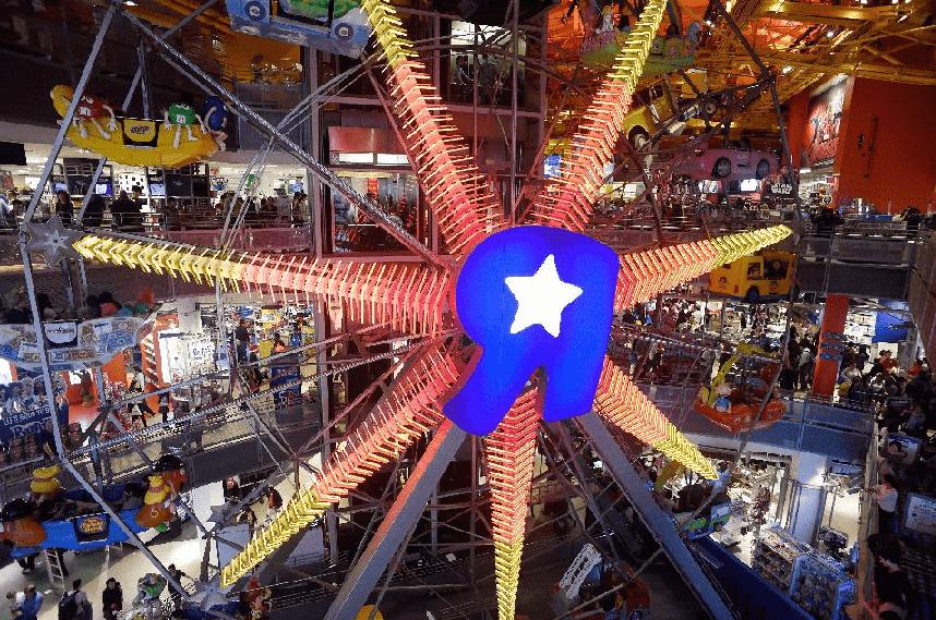 Loja de brinquedos Toys Y Us em Nova York