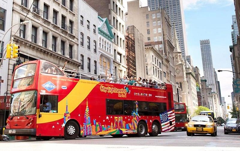 Ônibus turístico da Gray Line em Nova York