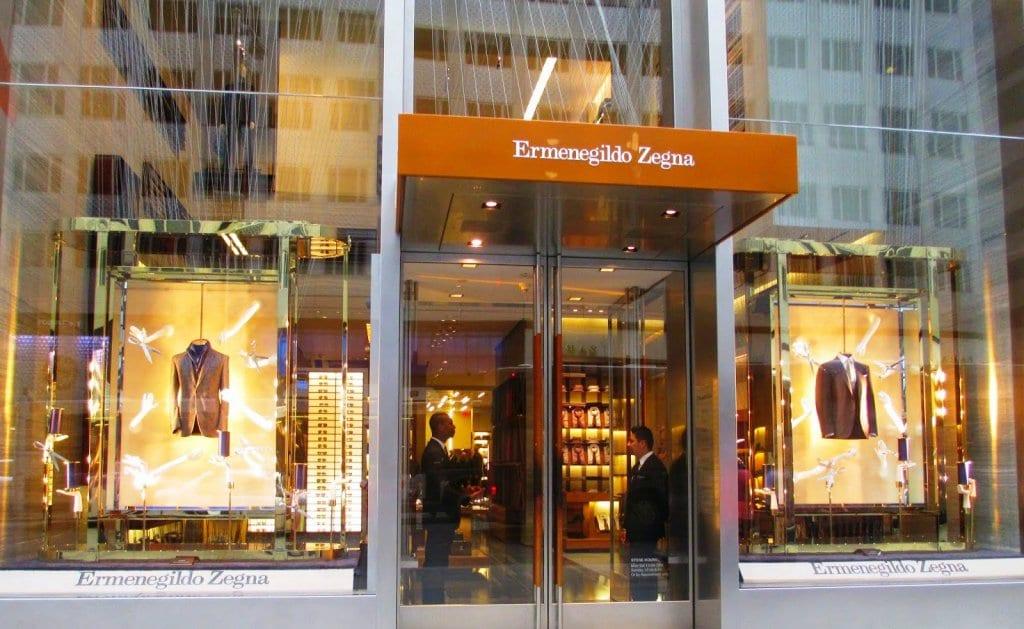 Loja Ermenegildo Zegna em Nova York.
