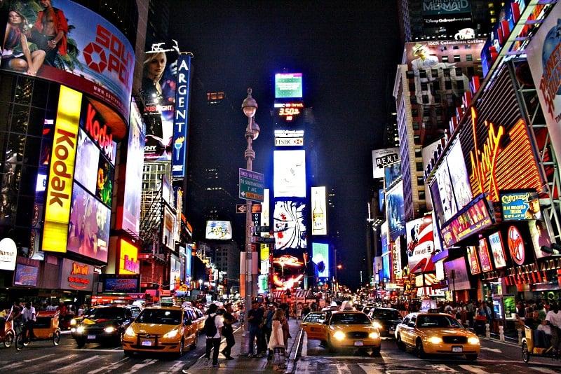 Times Square a noite
