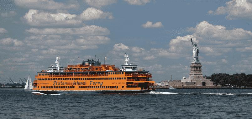 Barco Staten Island Ferry em Nova York