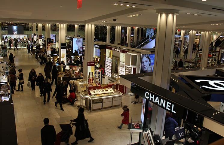 Lojas de departamento em Nova York