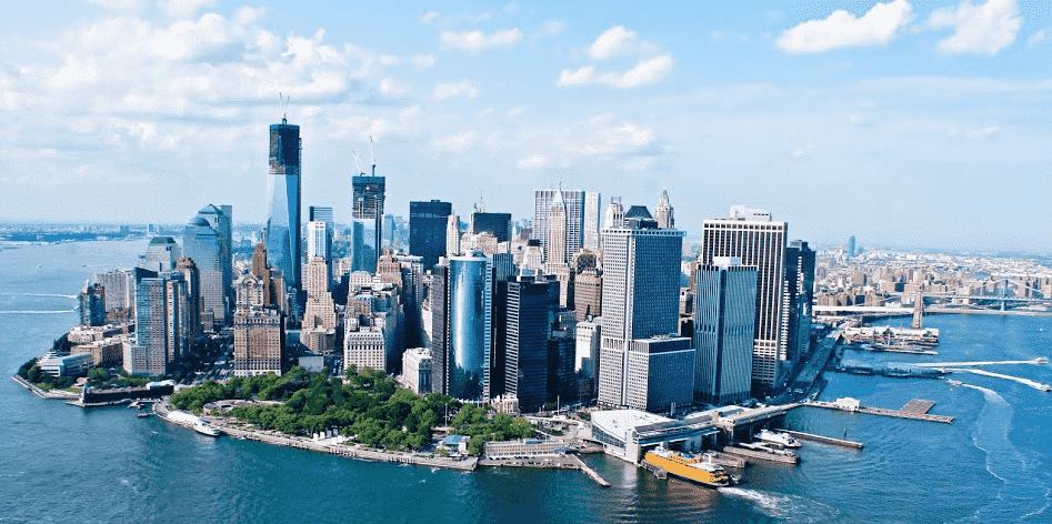 Região da Lower Manhattan em Nova York