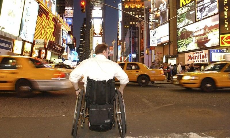 Deficientes físicos em Nova York