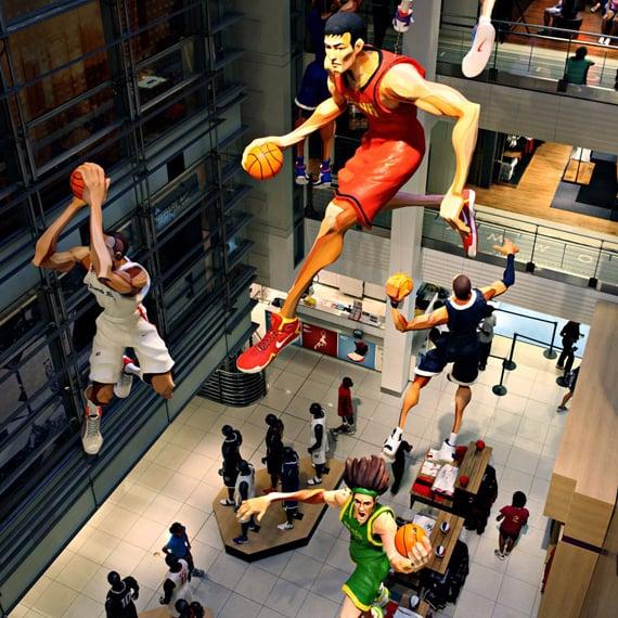 Como é a loja Niketown em Nova York?