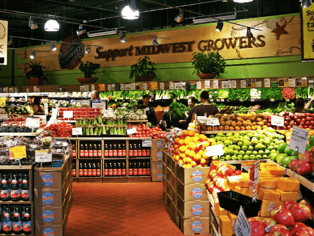 Supermercado natural Whole Foods em Nova York