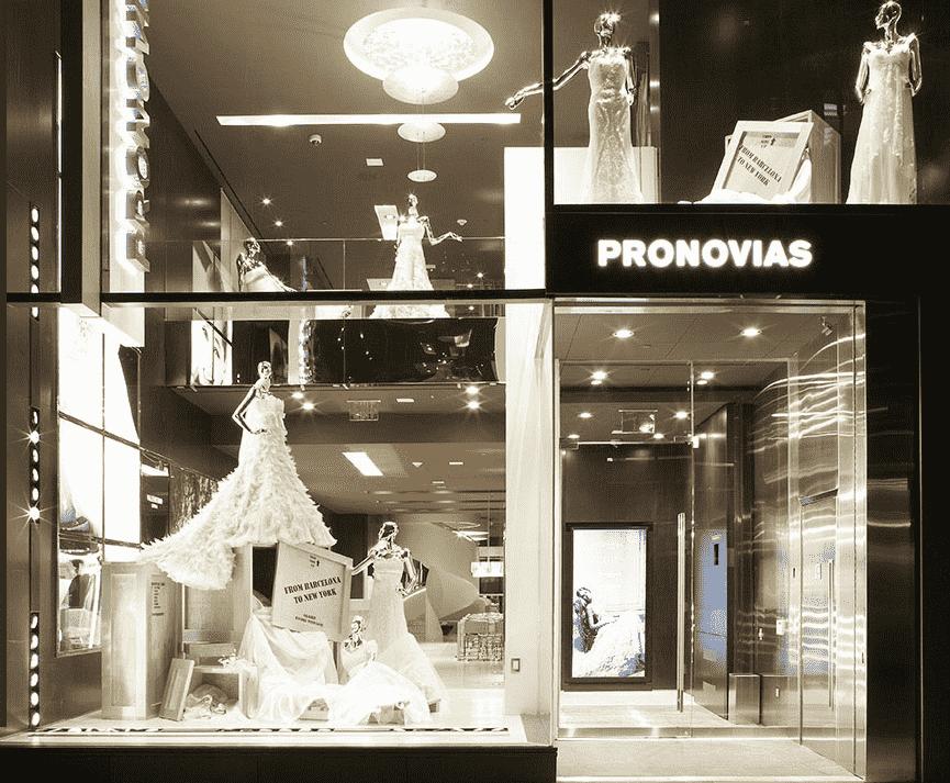 Loja de vestido de noiva Pronovias em Nova York