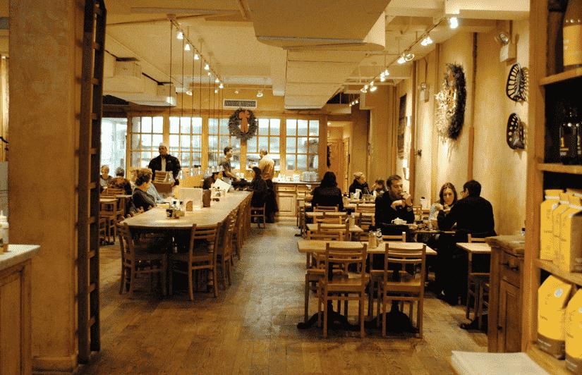 Restaurante Le Pain Quotidien em Nova York