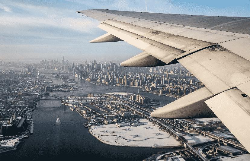 Tempo de viagem de avião a Nova York