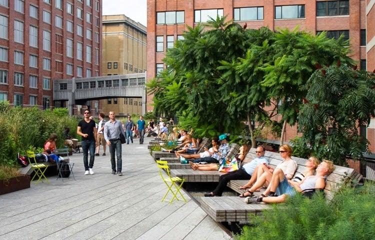 Nova York em Março: High Line Park