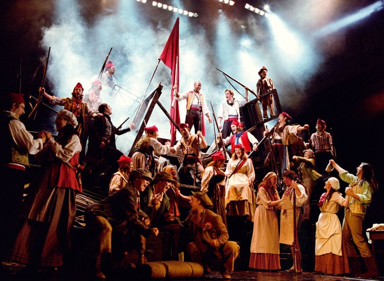 Musical Les Miserables na Broadway em Nova York