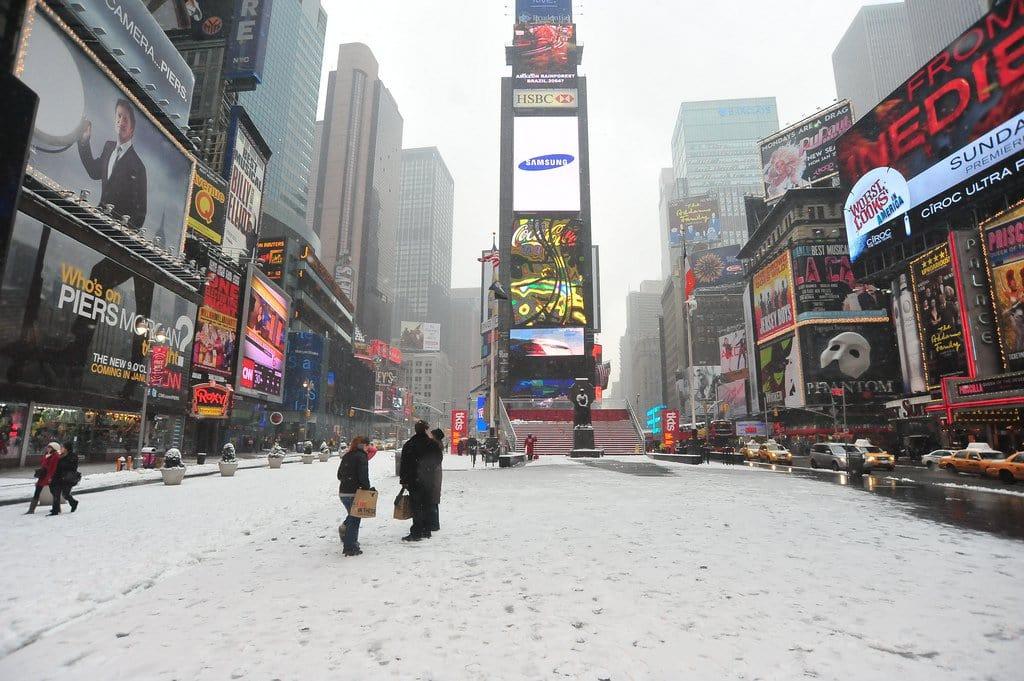 Inverno em Nova York: Times Square