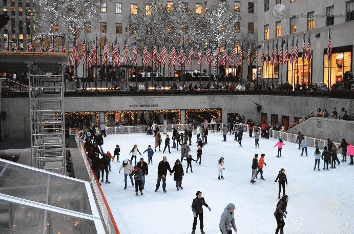 Patinação no gelo em Nova York: Rockfeller Center