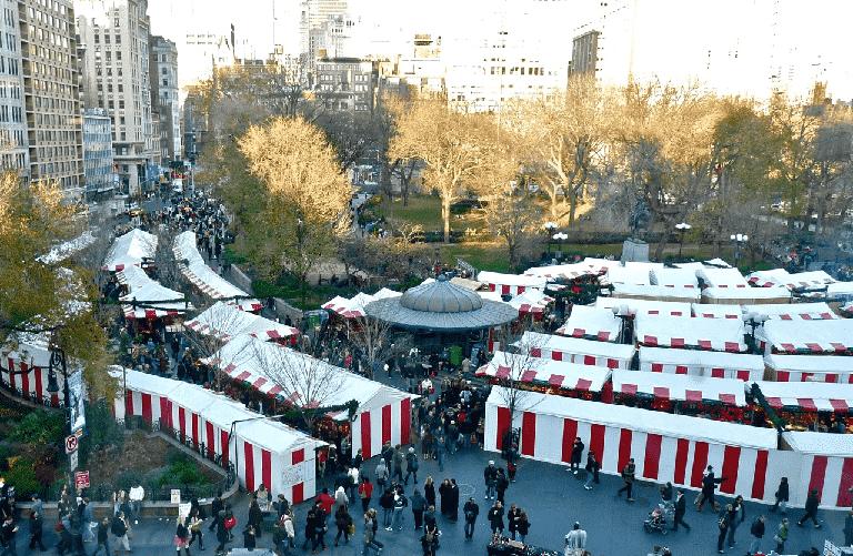 Feirinhas em Nova York no inverno