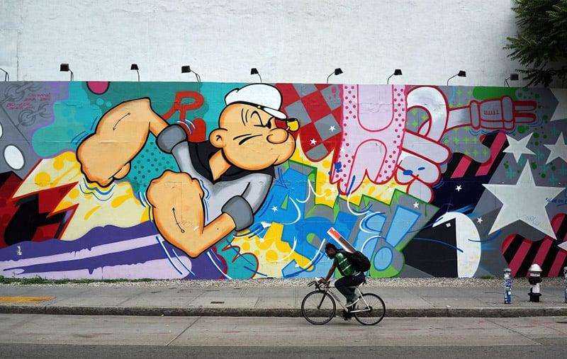Manhã andando de bicicleta pelo Brooklyn em Nova York