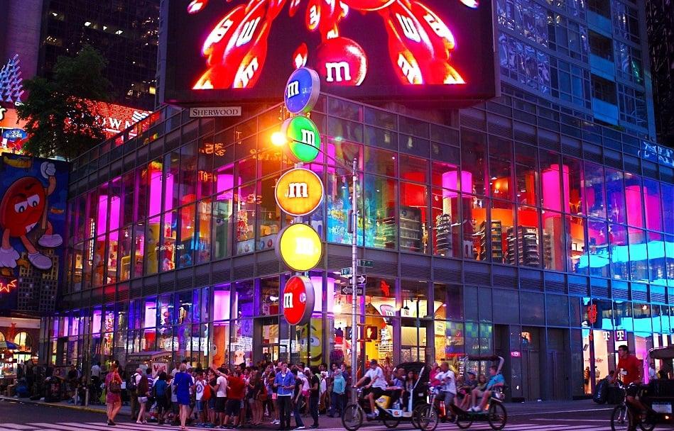 Super lojas da Hersheys e da M&Ms