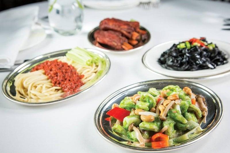 Culinária do restaurante Mr Chow em Nova York