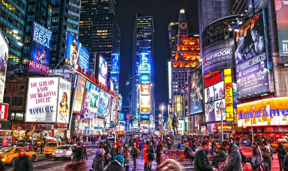 Onde Ficar em Nova York - Manhattan Times Square