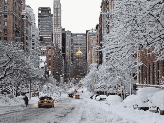 Quando neva em Nova York