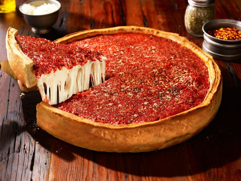 Restaurante Giordano's Pizza em Chicago