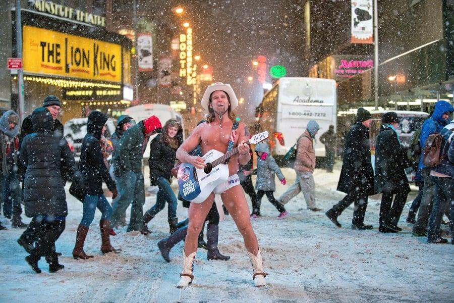 Naked Cowboy em Nova York