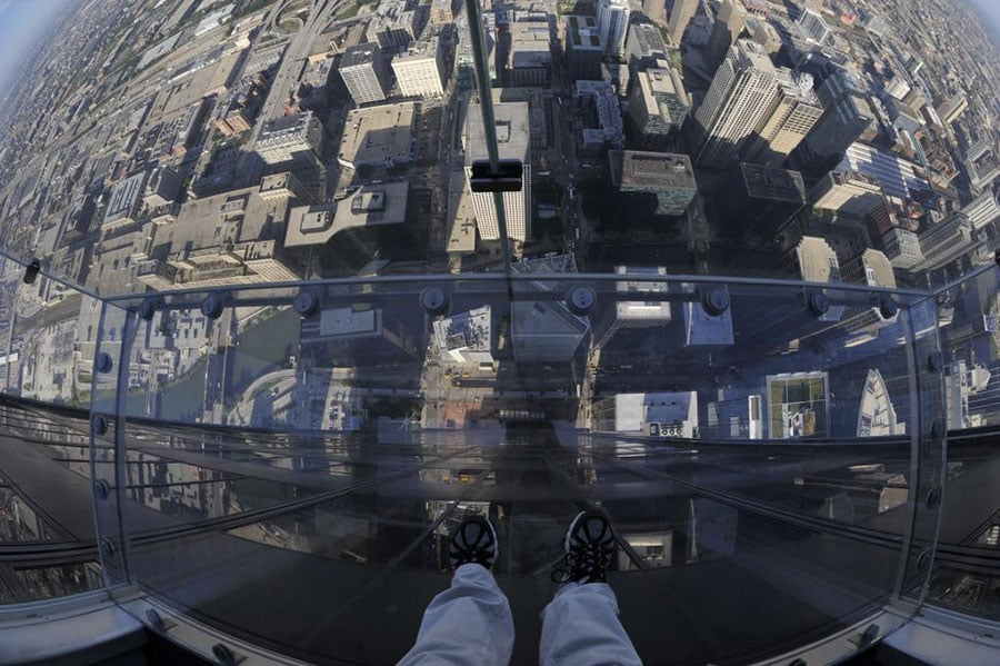 Skydeck no Willis Tower em Chicago