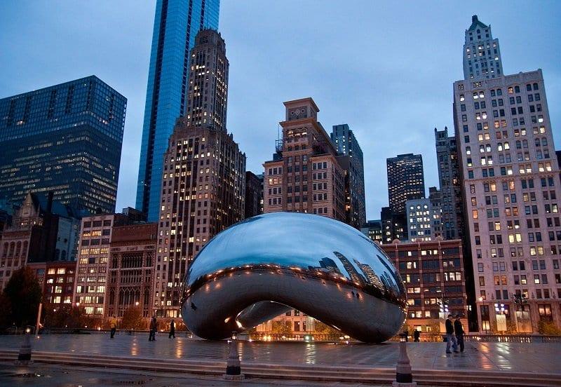 Millennium Park, Crown Fountain e Cloud Gate em Chicago