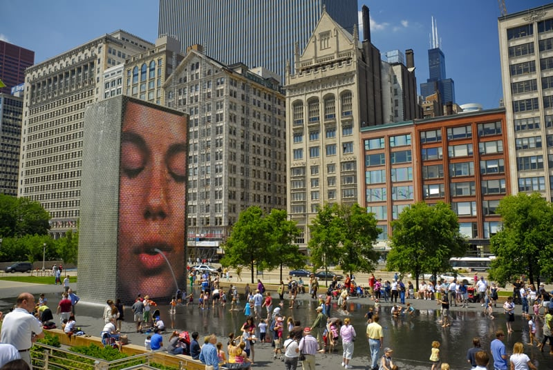 Crown Fountain em Chicago