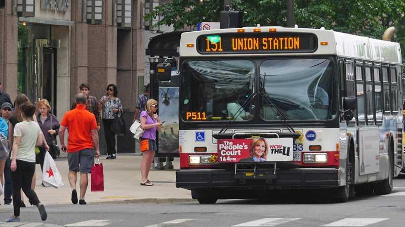 Andar de Ônibus em Chicago