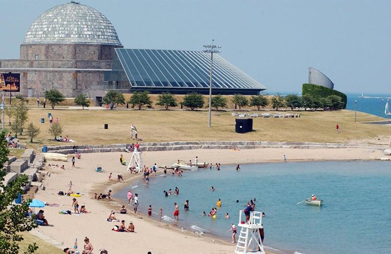 Street Beach no Lake Michigan de Chicago