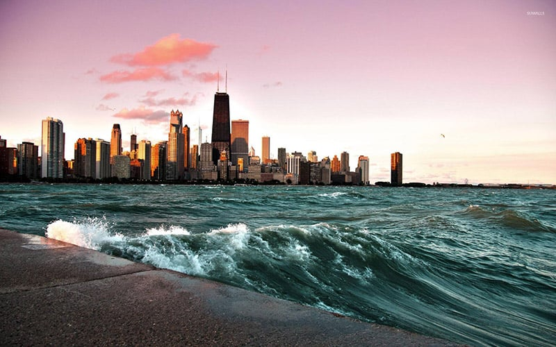 Lago Michigan em Chicago