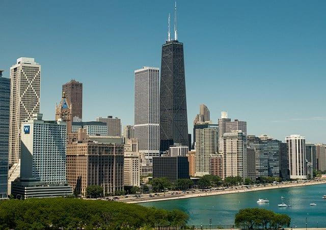 Praias no Lake Michigan de Chicago