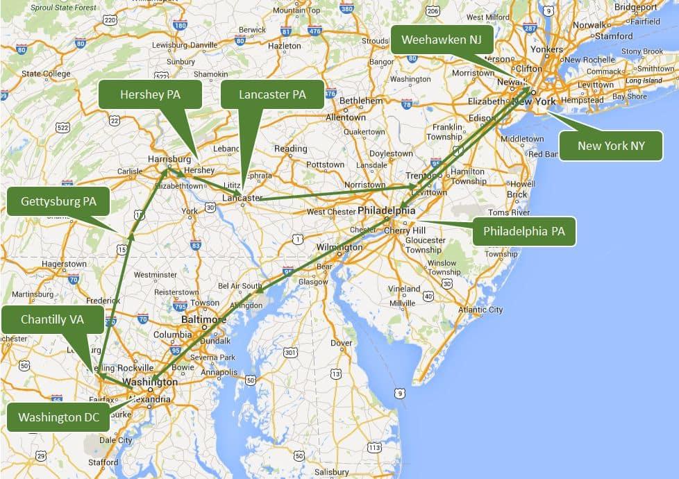 Viagem de carro em Washington DC