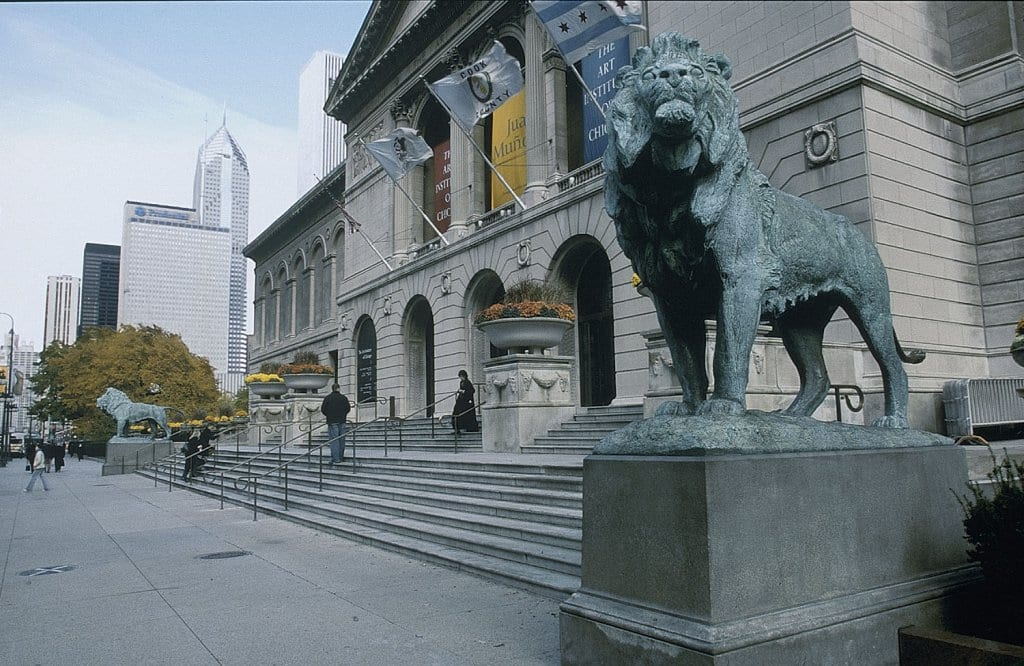 Art Institute no outono em Chicago