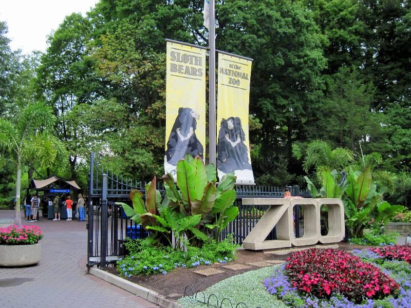 Manhã no Smithsonian National Zoological Park em Washington