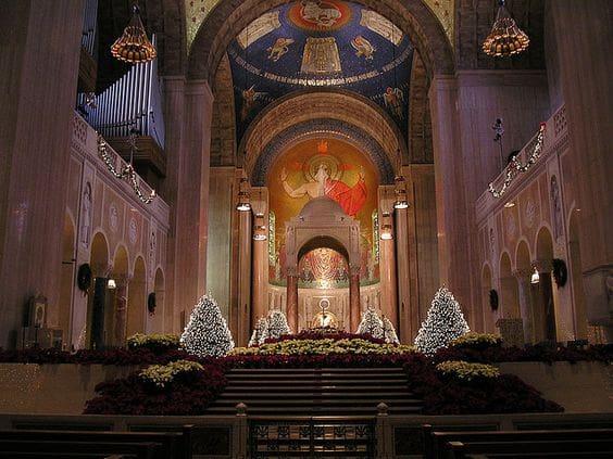 Ver a basílica no natal em Washington