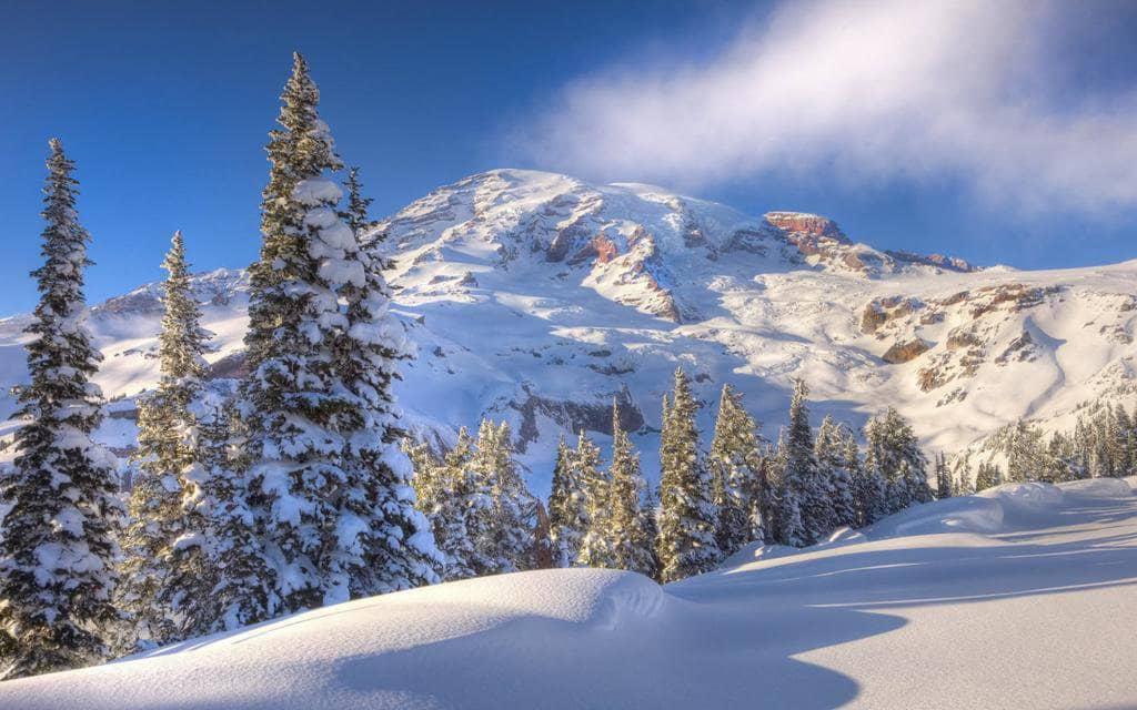 Ir para as estações de esqui no inverno em Washington