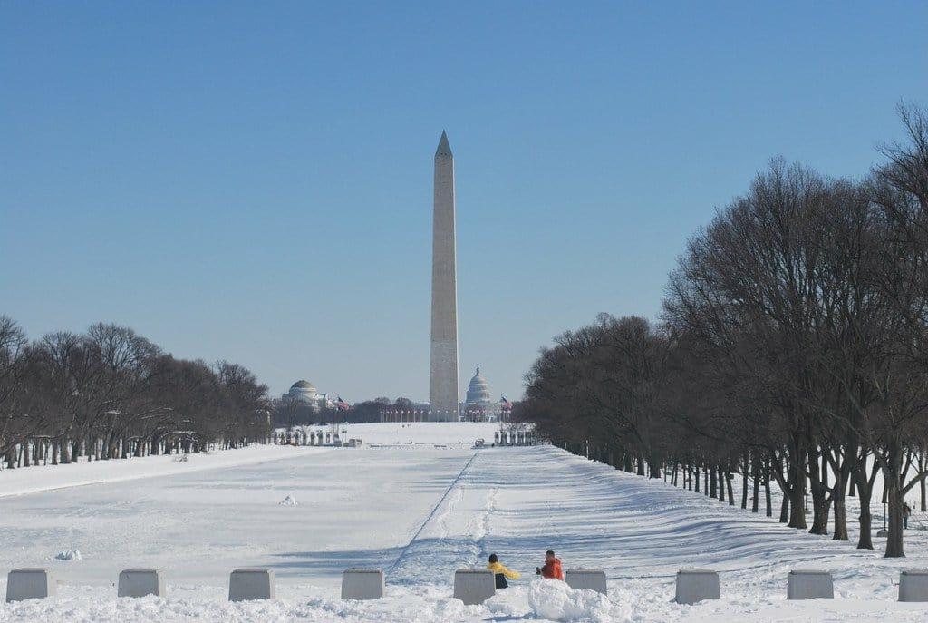 Passear pelo National Mall no inverno em Washington