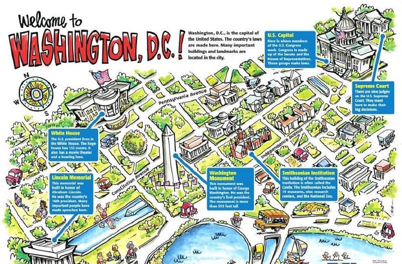 Pontos turísticos dos passeios de ônibus em Washington