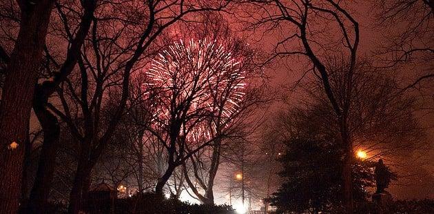 Queima de fogos no Central Park