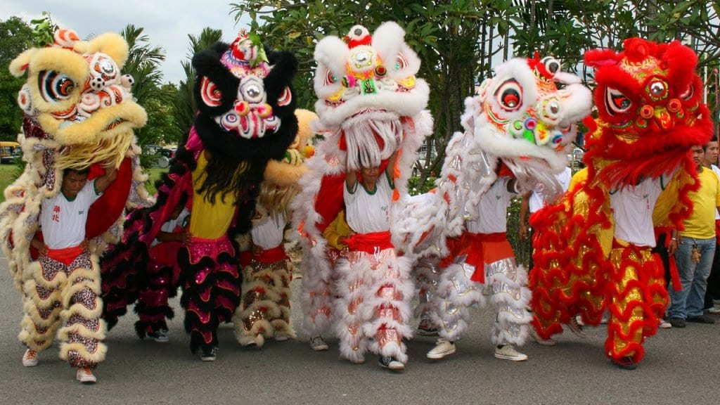 Grupo Lion Dance na Madison Street