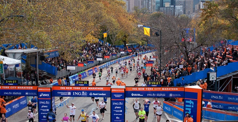Kits e infraestrutura da Maratona de Nova York