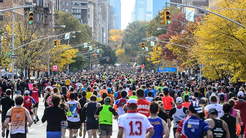 Dia da corrida na Maratona de Nova York