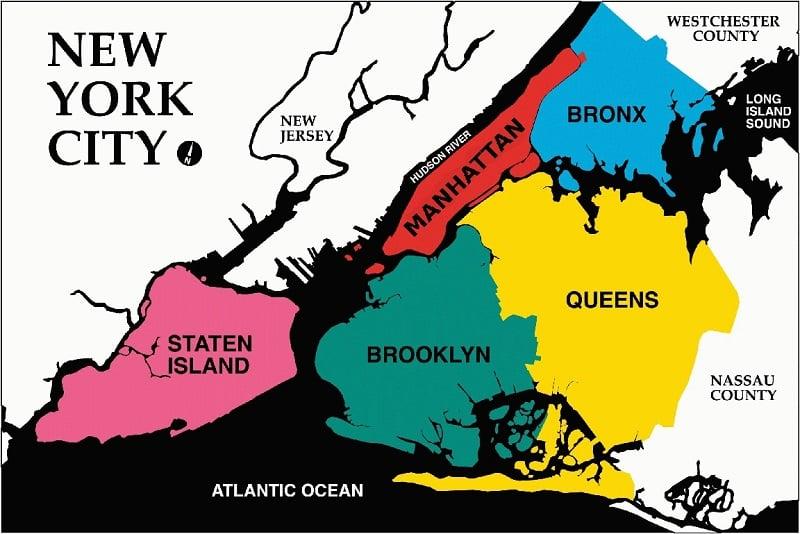 Regiões e bairros de Nova York