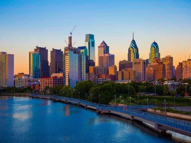 Pontos turísticos na Filadélfia