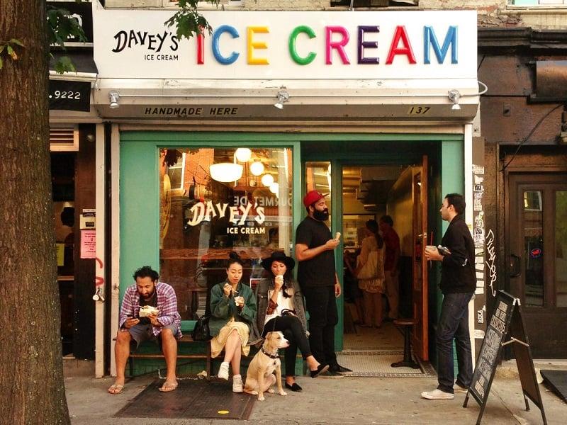 Sorveteria Davey's Ice Cream em Nova York